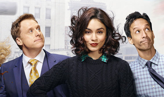 "The trailer for Vanessa Hudgen's ""Powerless"" is here, where superheroes meet LOL"