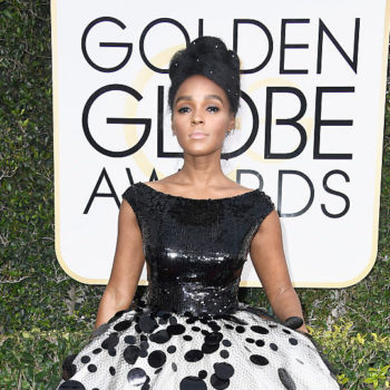 Janelle Monáe likes to rock a lot of polka dots on the Golden Globes red carpet
