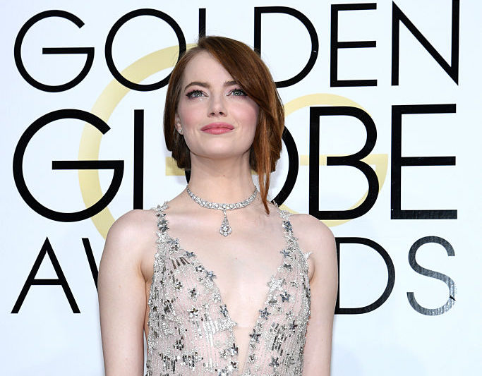 You probably missed this subtle detail on Emma Stone's dress at the Golden Globes