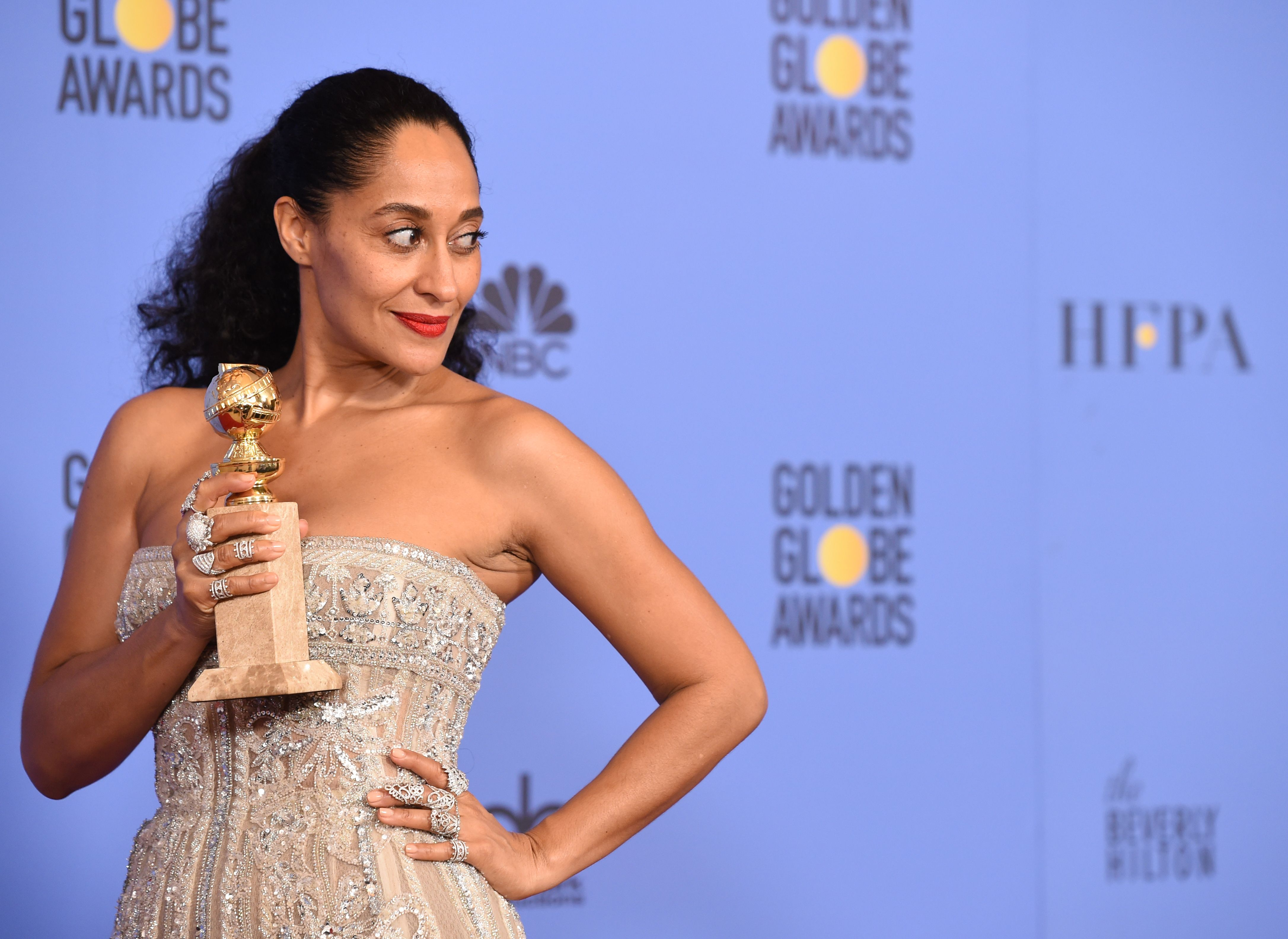 Tracee Ellis Ross has the most hilarious plan to show off her Golden Globe