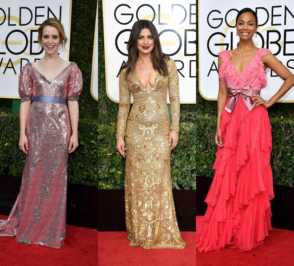 Here are 20 of our favorite red carpet looks from the 74th Annual Golden Globes