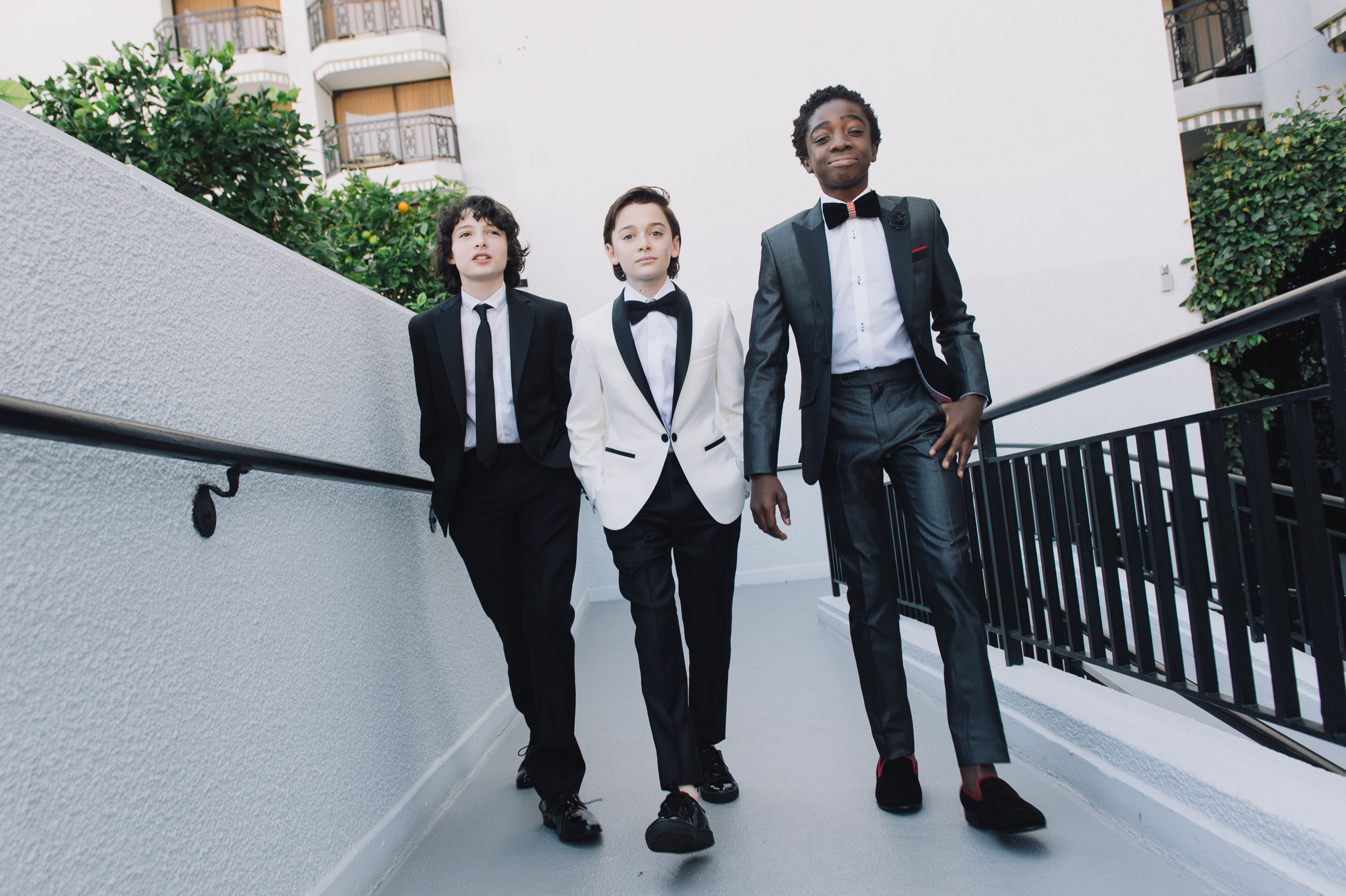 """This photographer followed the """"Stranger Things"""" kids around the Golden Globes, and it looks like a kid's version of a James Bond movie"""