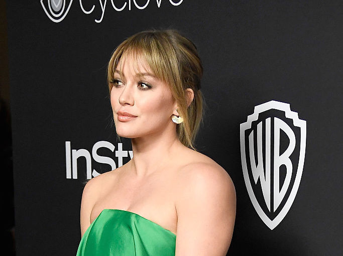 Hilary Duff looked like the queen of the Emerald City at the Golden Globes after-party
