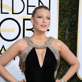 """Blake Lively refreshingly makes """"I Did Not Wake Up Like This"""" a thing when talking about her Golden Globes look"""