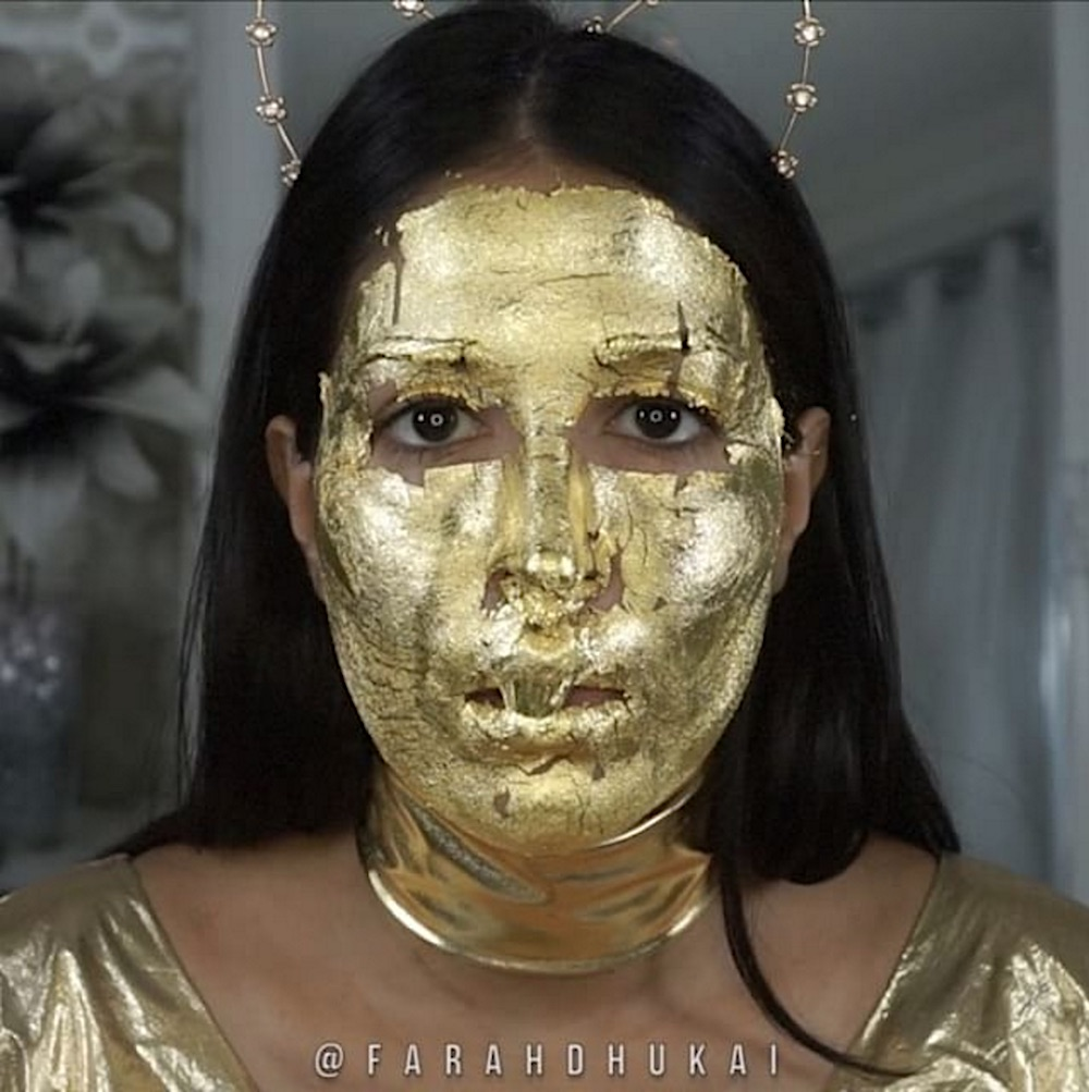 This beauty vlogger created an affordable DIY version of the wildly popular 24k gold mask