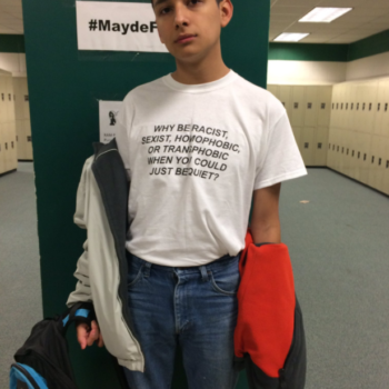 This teen is shutting down bullying and intolerance with a simple t-shirt