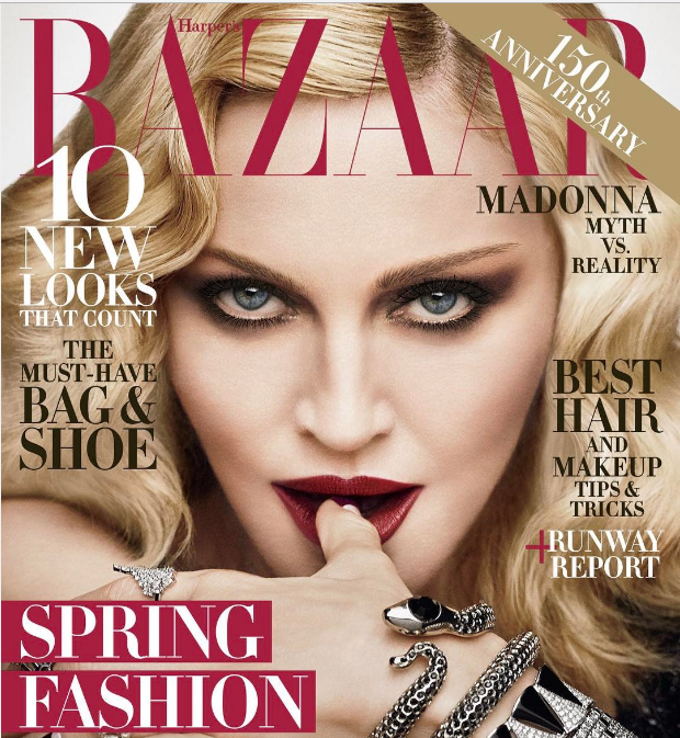 "Madonna looks like a silver screen vixen in ""Harper's Bazaar"""