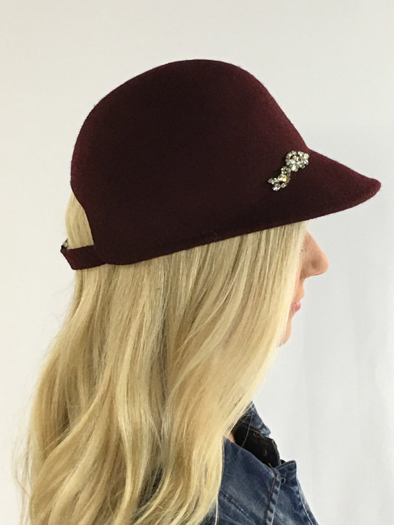 wine riding hat