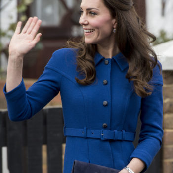 Kate Middleton beats the winter blues in a cobalt coat for her first public appearance of 2017
