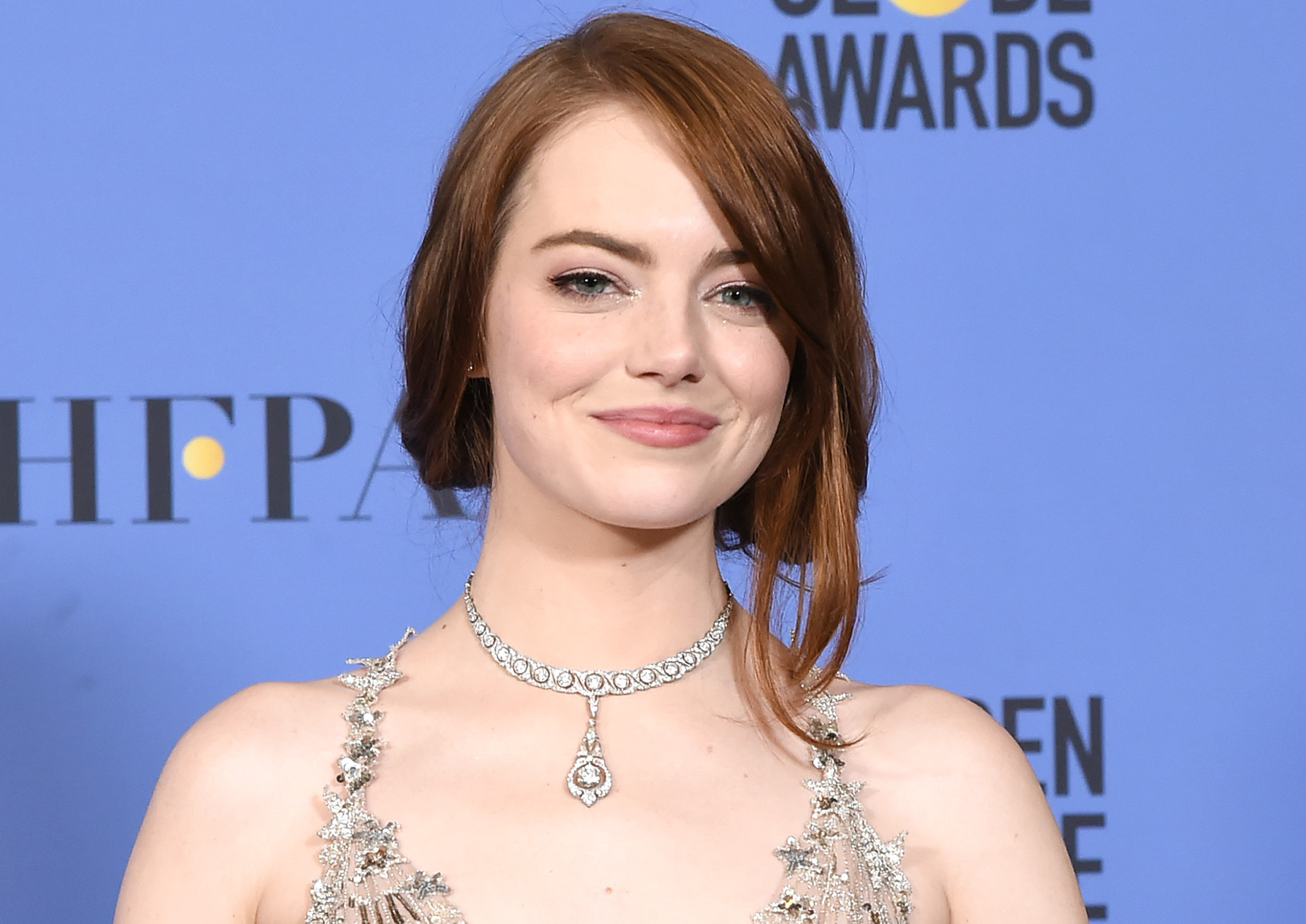 Emma Stone combined three different trends in one dress and somehow managed to not overdo it