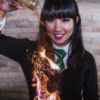 "There's officially a ""Harry Potter"" cafe that serves literal Goblets of Fire … with booze"