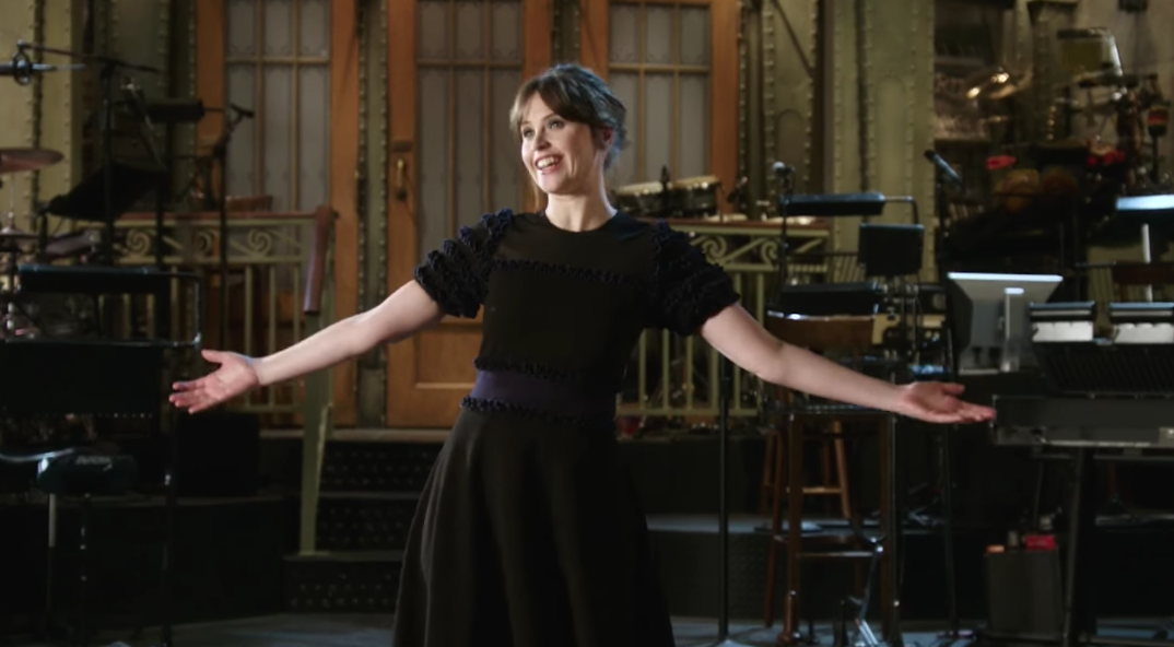 "The first ""Saturday Night Live"" promo for Felicity Jones is here, and it is one big ""Star Wars"" pun"