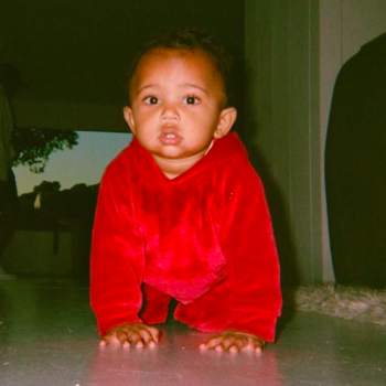 We're really loving this influx of Saint West photos that Kim Kardashian keeps posting