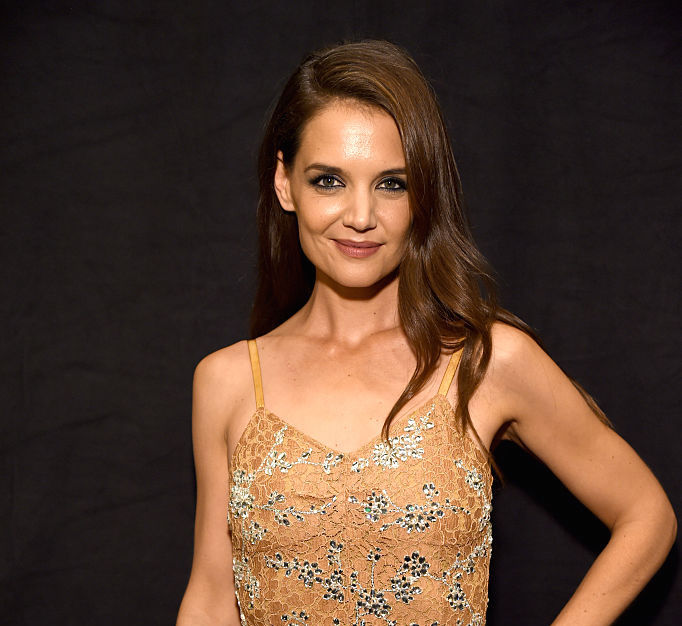 Katie Holmes' houndstooth jacket is actually the best part of her outfit