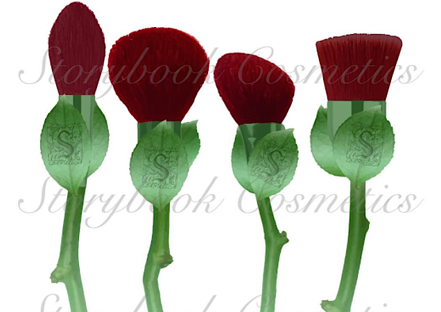 "Storybook Cosmetics shared a sneak look at their upcoming ""What's in a Name"" rose brush set"