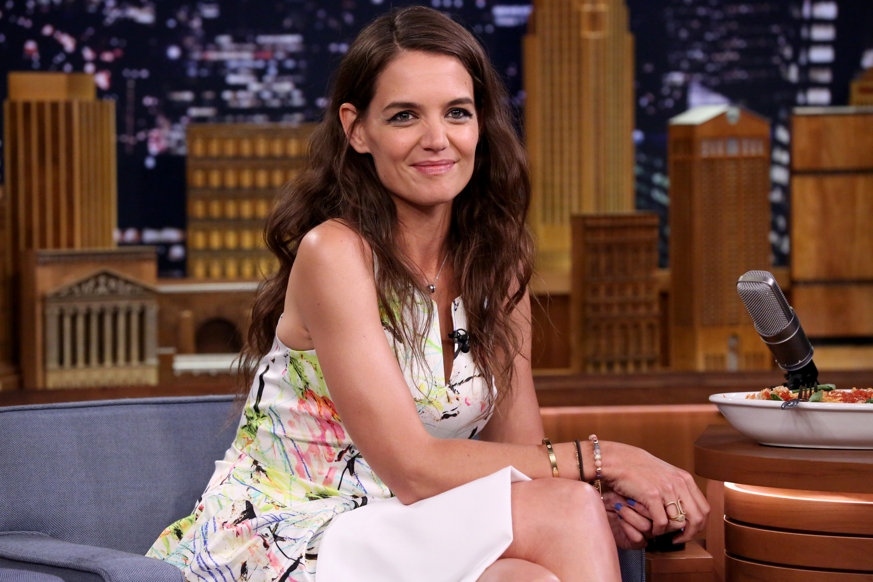 "Pause for a sec, because Katie Holmes may have just secretly joined the cast of ""Ocean's 8"""
