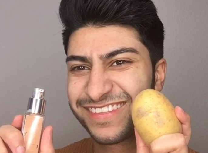 This makeup artist used a potato as a beauty blender, and we're seriously laughing out loud