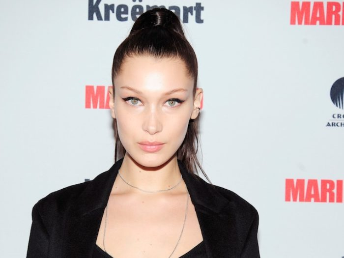 Bella Hadid Shared A Video Of Herself In A Super Slinky Black Swimsuit And This Girl S Got It