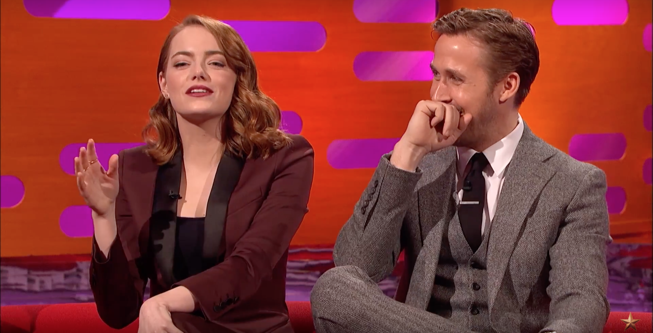 "Emma Stone explains why her ""Dirty Dancing"" jump with Ryan Gosling caused a ""full meltdown"""
