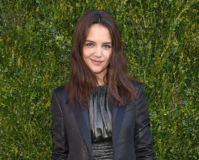 Katie Holmes just wore a pale blue dress that makes us think of a casual Cinderella