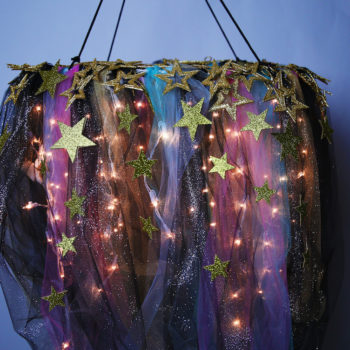 This DIY galaxy chandelier will really improve your ~SPACE~