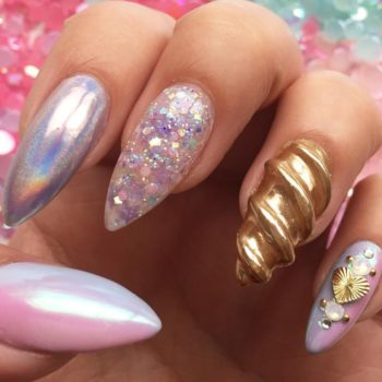 Unicorn horn manicures are now a thing, in case your style needed more magic