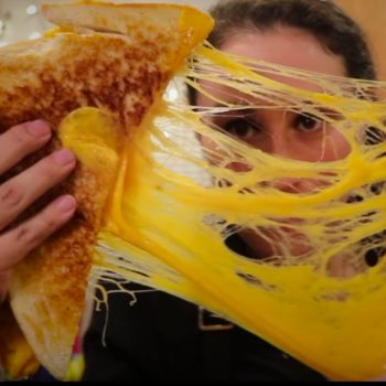 This viral video shows you how to make a gigantic grilled cheese sandwich because this is something you need to know