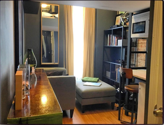 This extremely tiny apartment is going viral because it's so well-styled, and we're obsessed with it
