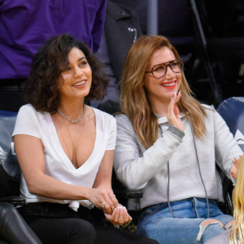 Ashley Tisdale and Vanessa Hudgens are literally you and your friends at a basketball game