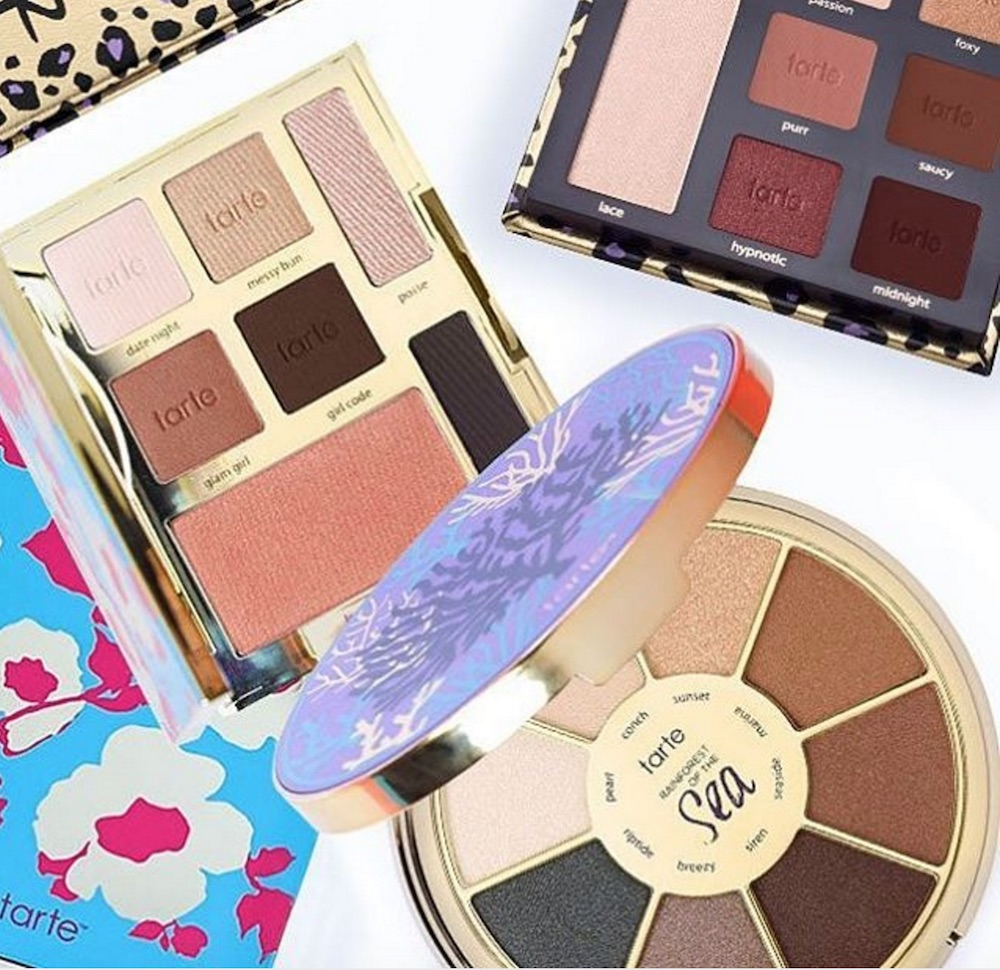 Tarte Cosmetics shared beautiful swatches of their limited-edition happy girls shine brighter palette