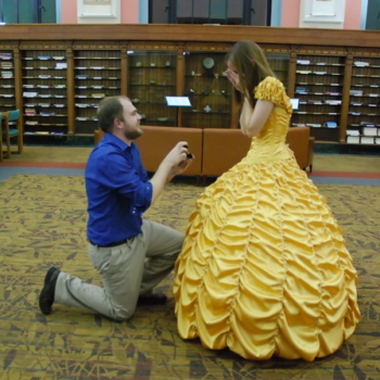 "World's greatest boyfriend plans a ""Beauty and the Beast"" themed-proposal for his awesome bride-to-be"