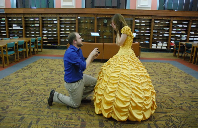 """World's greatest boyfriend plans a """"Beauty and the Beast"""" themed-proposal for his awesome bride-to-be"""