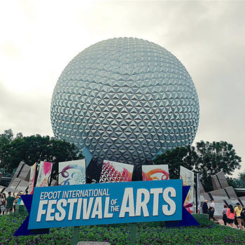 There's a brand new festival happening at Disney World, and it is truly a work of art (and food)