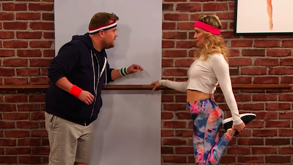 "Watch Kate Hudson and James Corden rock the dance floor with ""Toddlerography"""