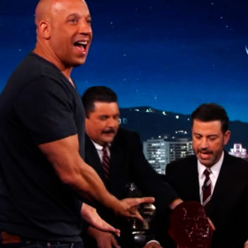 Vin Diesel was gifted a gummy version of his head, and yes, you read that correctly