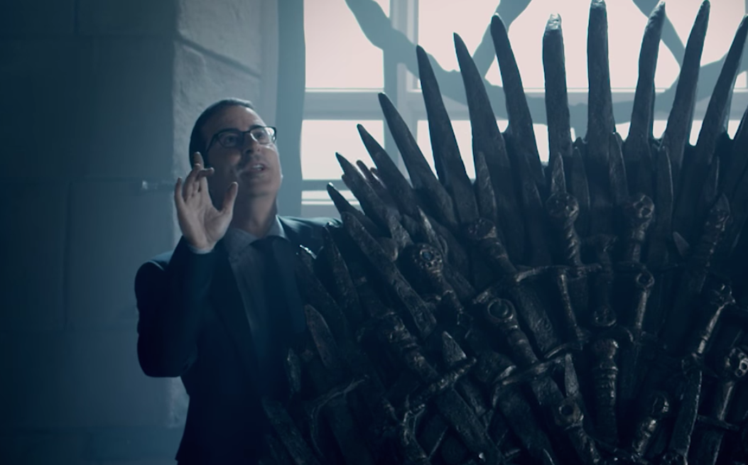 "John Oliver tries, and fails, to claim the Iron Throne in the Season 4 trailer for ""Last Week Tonight"""