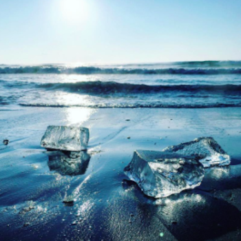 """Jewel ice"" is a natural phenomenon that makes Japanese beaches look like the setting in a fantasy novel"