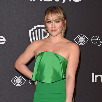 Hilary Duff's oxblood leggings are the perfect workout color