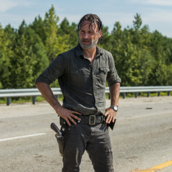 "We've got a brand new picture of ""Walking Dead"" Season 7B, and it is super mysterious"