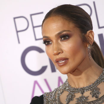 Jennifer Lopez won for Best Actress in a TV Drama, but can we talk about her black and silver dress?