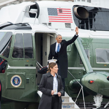 President Obama waved goodbye to Washington D.C. and we cannot handle this