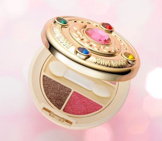 There's a Sailor Moon eyeshadow palette that's clearly filled with moon prism power
