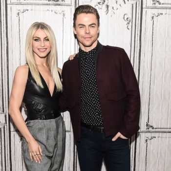 "Derek and Julianne Hough dressed like Emma Stone and Ryan Gosling from ""La La Land"""