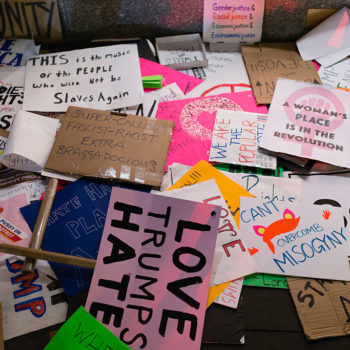 Museums are collecting signs used in the Women's March from around the world