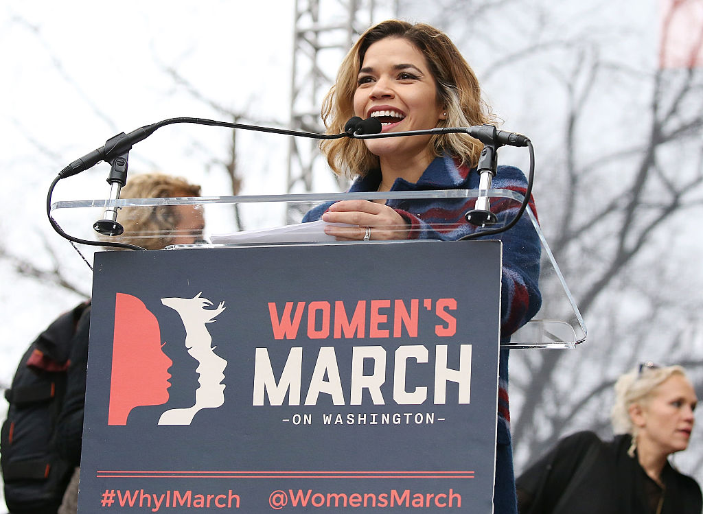 America Ferrera at the Women's March has us seriously wishing she'll run in 2020