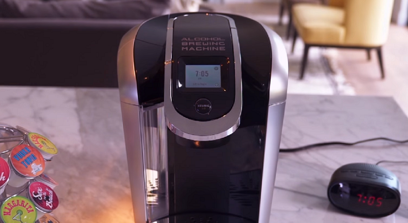 Ellen made a genius fake commercial for a Keurig that makes morning cocktails