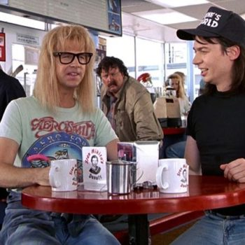 """Wayne's World"" is officially returning to theaters, and, party time"