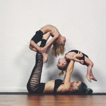 This mom and her little kids doing yoga together are #EverythingGoals
