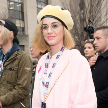 Katy Perry leading a chant at the Women's March is epic and you must hear it