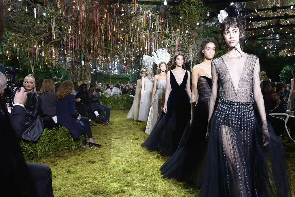 Christian Dior's Paris fashion week show looked like an ethereal forest wedding that we wish we were invited to